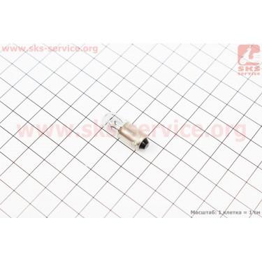 Лампа поворота (белая с цоколем) 12V/5W G10 BA9S [Китай]