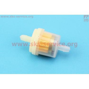 Фильтр топливный прозрачный с магнитом малый [Китай]