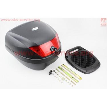 Кофр LUX МАТовый черный отстегивающийся HF-880 395*395*300мм